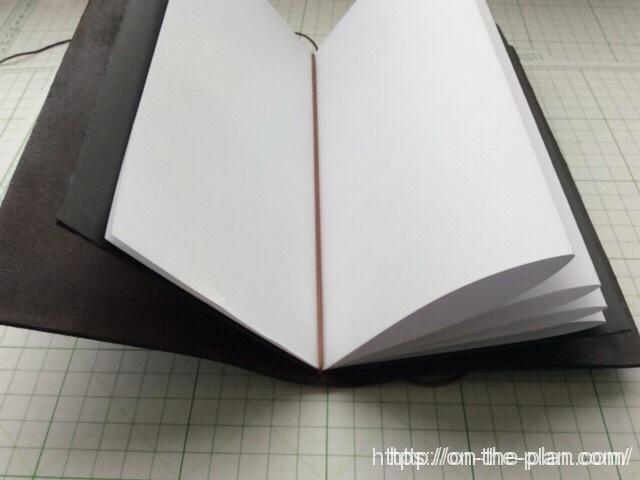 トラベラーズノートで、エコなミスコピー用紙を使う
